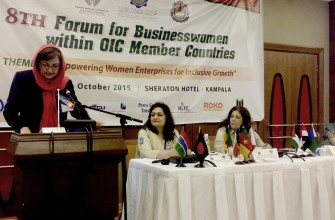 HiH-AF Chairperson speaks in 8th Forum for Businesswomen within OIC Member Countries