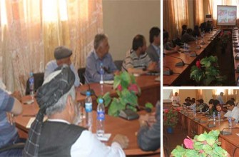 Coordination Meeting of GPAF Project with Sarepul Provincial Officials